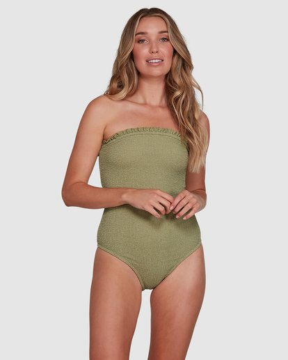 1 SUMMER HIGH BANDEAU ONE PIECE Green 6591698 Billabong
