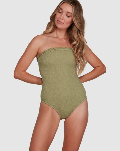 0 SUMMER HIGH BANDEAU ONE PIECE Green 6591698 Billabong