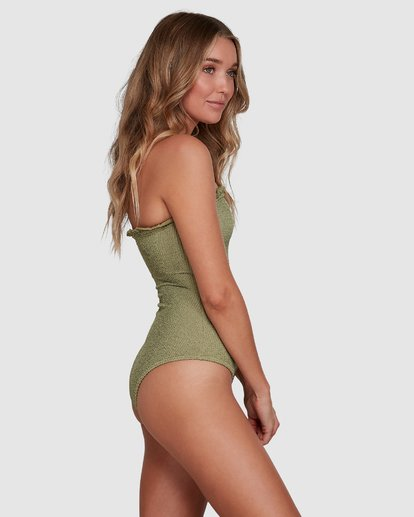 2 SUMMER HIGH BANDEAU ONE PIECE Green 6591698 Billabong