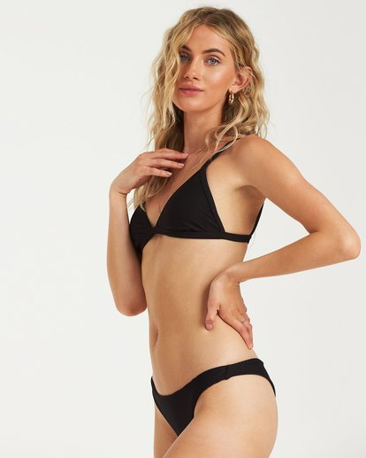 1 Tanlines Fixed Tri Bikini Top Black 6591721X Billabong