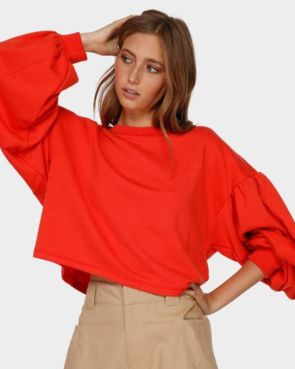 1 Dancer Crew Jumper Orange 6591733 Billabong