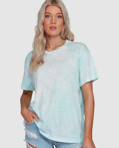 0 Fade To Dusk Short Sleeve Tee Blue 6592038X Billabong