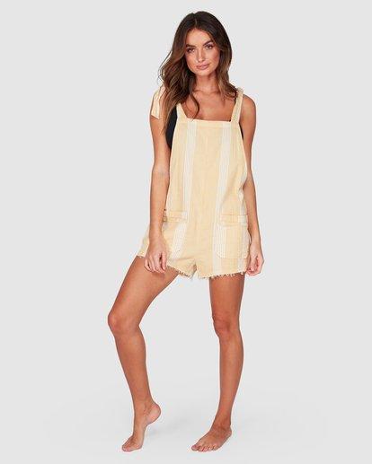 5 Girl On The Run Stripe Jumpsuit Yellow 6592151 Billabong