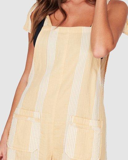 3 Girl On The Run Stripe Jumpsuit Yellow 6592151 Billabong