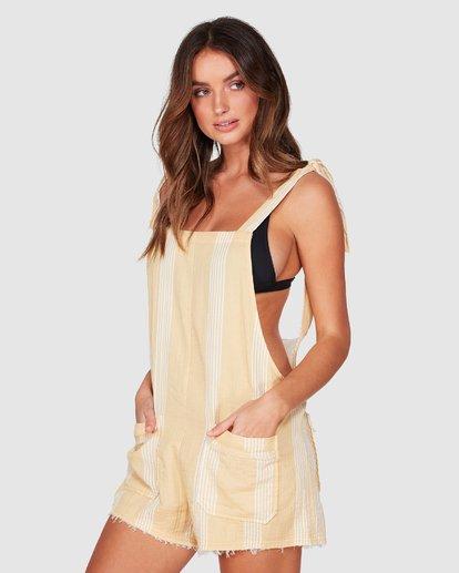 1 Girl On The Run Stripe Jumpsuit Yellow 6592151 Billabong