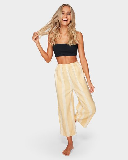 4 Sylvia Stripe Pants Yellow 6592154 Billabong