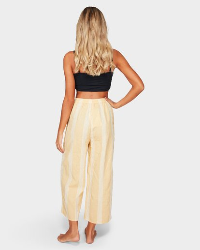 2 Sylvia Stripe Pants Yellow 6592154 Billabong