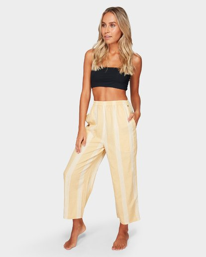 1 Sylvia Stripe Pants Yellow 6592154 Billabong