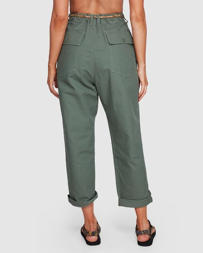 4 Elle Ferguson Swagger Cargo Pants Green 6592409M Billabong