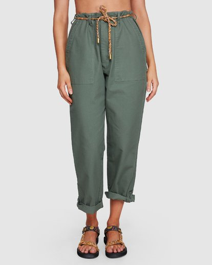 6 Elle Ferguson Swagger Cargo Pants Green 6592409M Billabong