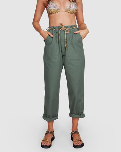 5 Elle Ferguson Swagger Cargo Pants Green 6592409M Billabong