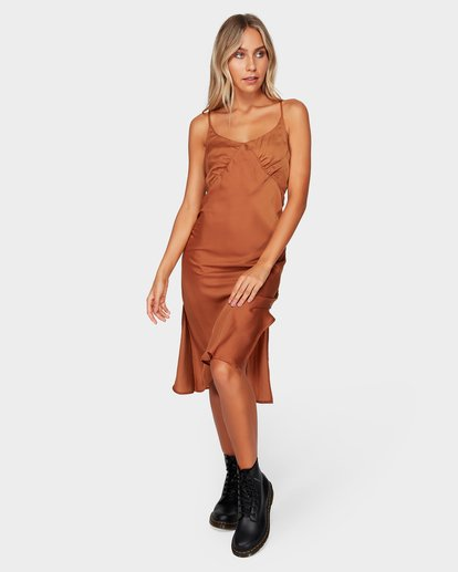5 SUNDANCE SLIP DRESS Brown 6592477 Billabong