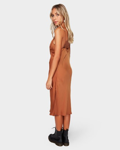 3 SUNDANCE SLIP DRESS Brown 6592477 Billabong