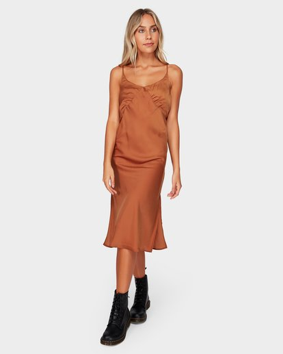 1 SUNDANCE SLIP DRESS Brown 6592477 Billabong