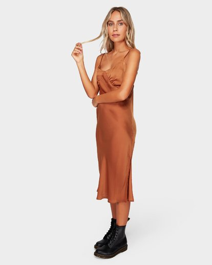 2 SUNDANCE SLIP DRESS Brown 6592477 Billabong