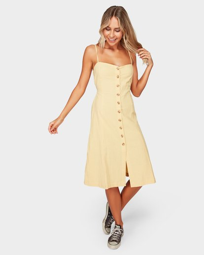 1 Paradiso Midi Dress Yellow 6592484 Billabong