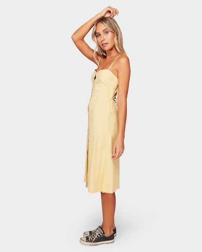 2 Paradiso Midi Dress Yellow 6592484 Billabong