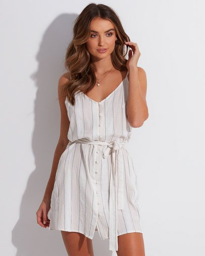 0 Arizona Stripe Dress Beige 6592486 Billabong