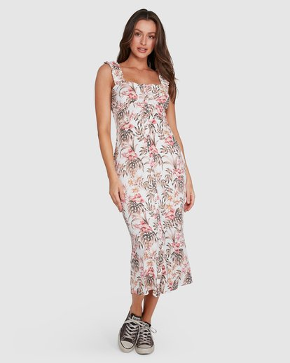 7 Lost Paradiso Midi Dress White 6592490M Billabong