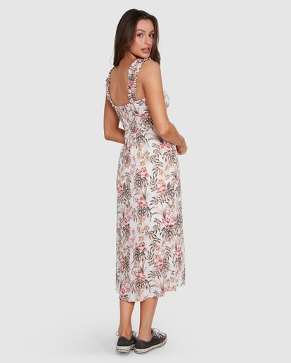 4 LOST PARADISO MIDI DRESS White 6592490M Billabong