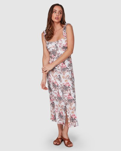 2 Lost Paradiso Midi Dress White 6592490M Billabong