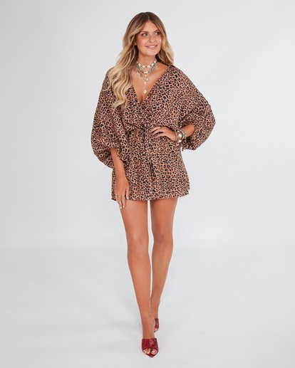 0 Elle Ferguson Babin Wrap Dress Brown 6592491M Billabong