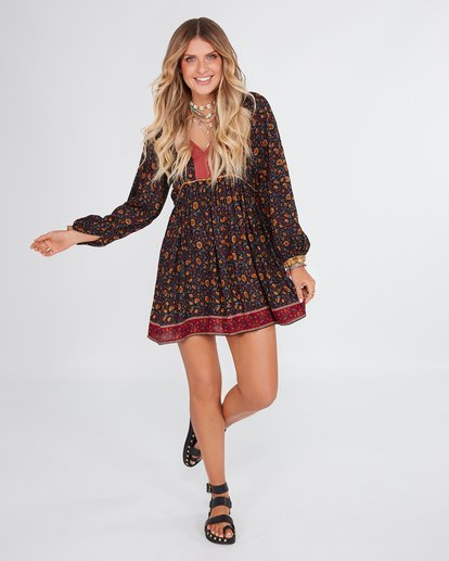 0 Elle Ferguson The Byron Dress Black 6592492M Billabong