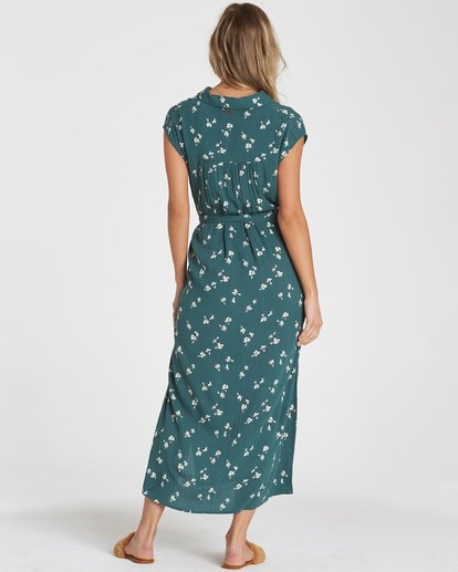 2 Little Flirt Midi Dress Green 6592494X Billabong