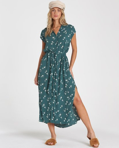 1 Little Flirt Midi Dress Green 6592494X Billabong
