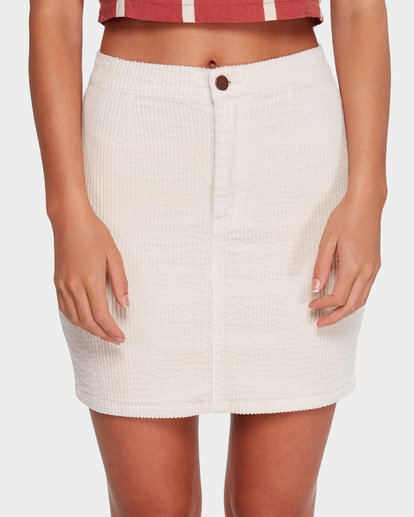 3 LILY CORDUROY SKIRT Beige 6592521 Billabong