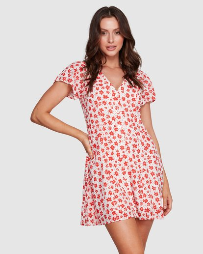 1 SUNSET DAISY SUNLIGHT DRESS Beige 6592546X Billabong