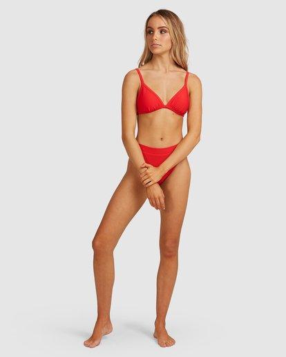 4 Tanlines Fixed Tri Bikini Top Red 6592561X Billabong