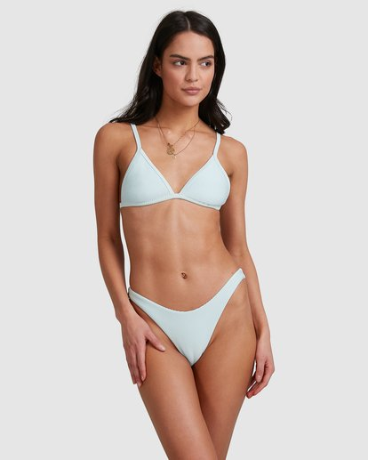 1 Tanlines Fixed Tri Bikini Top Blue 6592561X Billabong