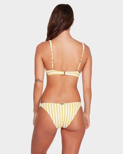 3 Cassy Stripe Bra Bikini Top Yellow 6592586 Billabong