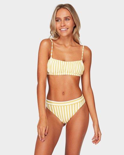 1 Cassy Stripe Bralette Bikini Top Yellow 6592587 Billabong
