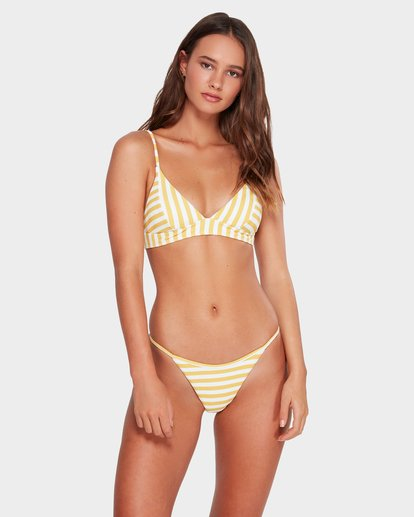 1 Cassy Stripe Skinny Biarritz Hike Bikini Bottoms Yellow 6592588 Billabong