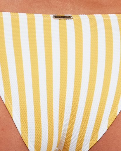 4 CASSY STRIPE TROPIC BIKINI BOTTOMS Yellow 6592589 Billabong