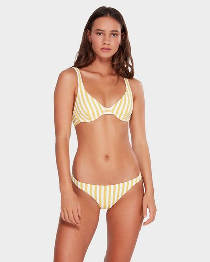 1 CASSY STRIPE TROPIC BIKINI BOTTOMS Yellow 6592589 Billabong