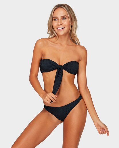 1 Lovelock Reverse Bandeau Bikini Top Black 6592616 Billabong