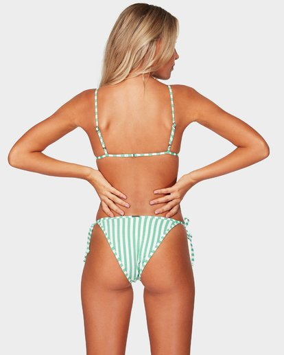 1 Brooke Stripe Skinny Biarritz Bikini Bottoms Green 6592625 Billabong