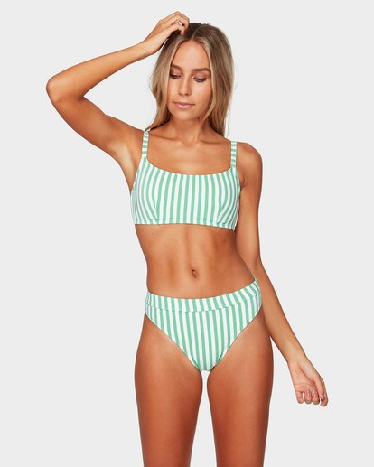 1 BROOKE STRIPE MAUI RIDER BIKINI BOTTOMS Green 6592627 Billabong