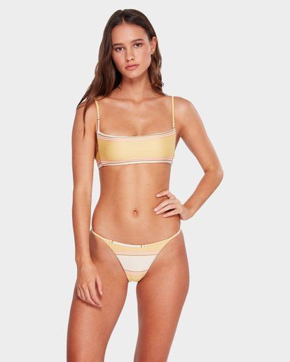 1 Tanlines Stripe Skinny Biarritz Hike Bikini Bottoms Beige 6592665 Billabong