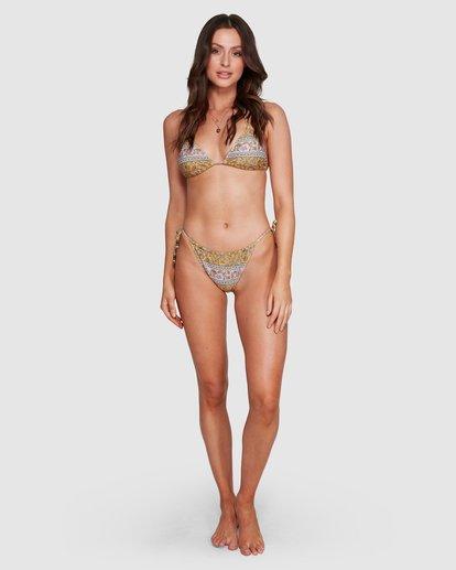 9 Elle Ferguson Castaway Tri Bikini Top Yellow 6592688M Billabong
