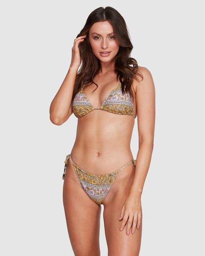 4 Elle Ferguson Castaway Tri Bikini Top Yellow 6592688M Billabong