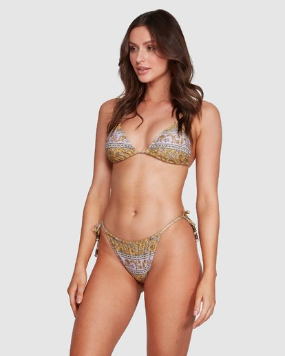 5 Elle Ferguson Castaway Tri Bikini Top Yellow 6592688M Billabong