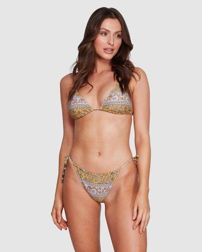 2 Elle Ferguson Castaway Tropic Bikini Bottoms Yellow 6592689M Billabong
