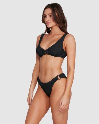 4 Summer High Ring Bralette Bikini Top Black 6592764X Billabong