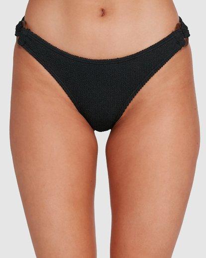 3 Summer High Ring Tropic Bikini Bottom Black 6592765X Billabong