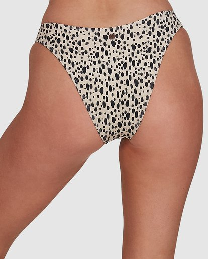 4 Fun Zoo Hike Bikini Bottoms Brown 6592780X Billabong