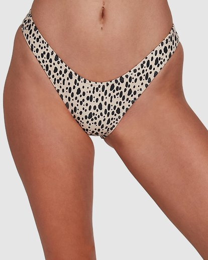 3 Fun Zoo Hike Bikini Bottoms Brown 6592780X Billabong